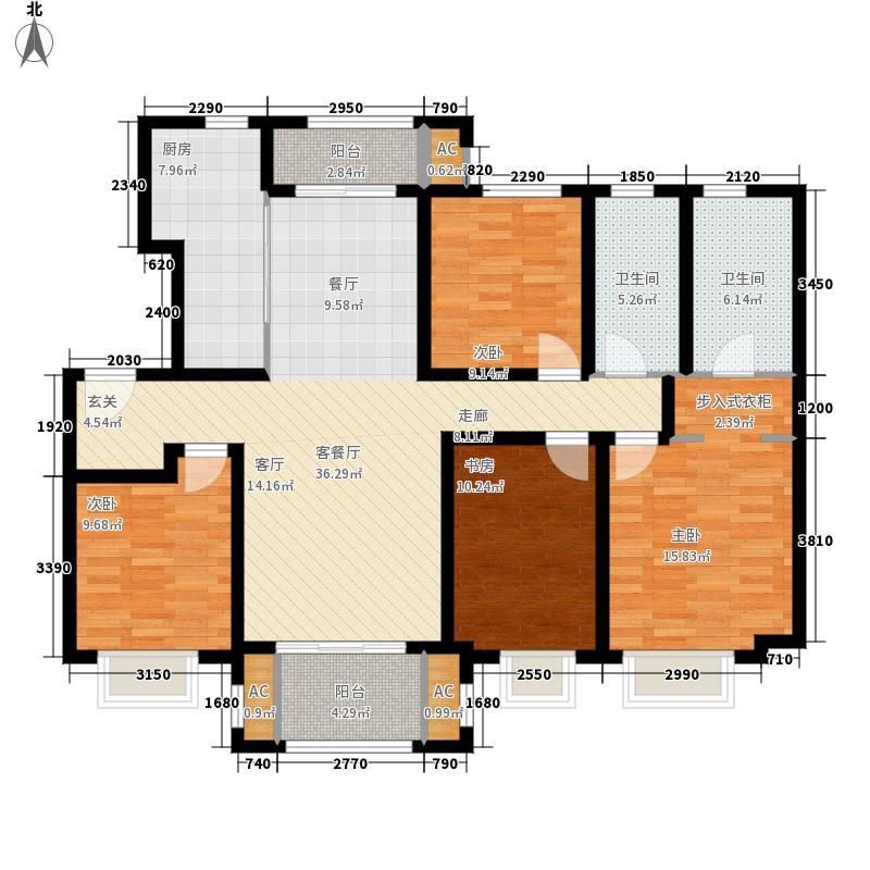 海亮院里132.00㎡户型4室2厅