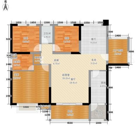 融圣国际3室0厅2卫1厨146.00㎡户型图
