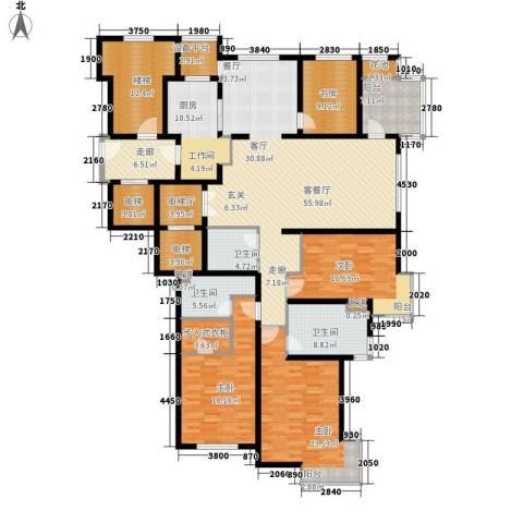 大华清水湾花园三期华府樟园4室1厅3卫1厨227.00㎡户型图