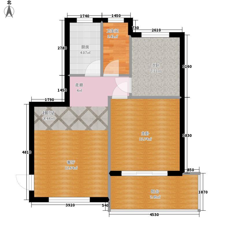 山海湾温泉家园六期72.77㎡山海湾温泉家园一期3#、4#楼C户型2室2厅