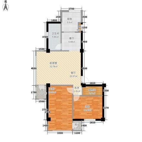 金地祥林书香苑2室0厅1卫1厨112.00㎡户型图