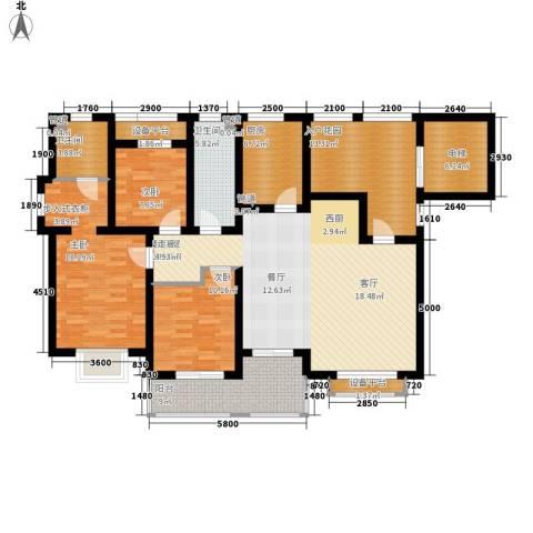 东方太阳城3室0厅2卫1厨145.82㎡户型图