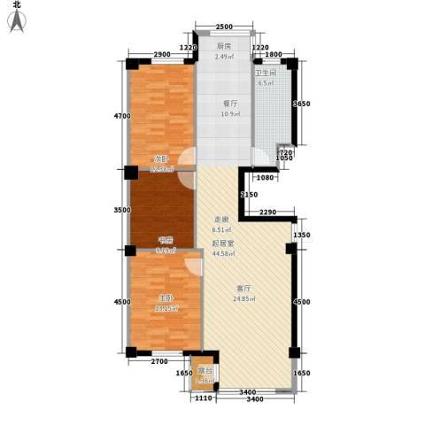 金地祥林书香苑3室0厅1卫0厨120.00㎡户型图