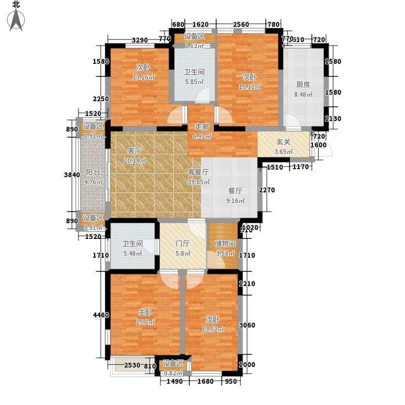 蓝山湾二期荣域154.55㎡风雅气韵A户型4室2厅2卫
