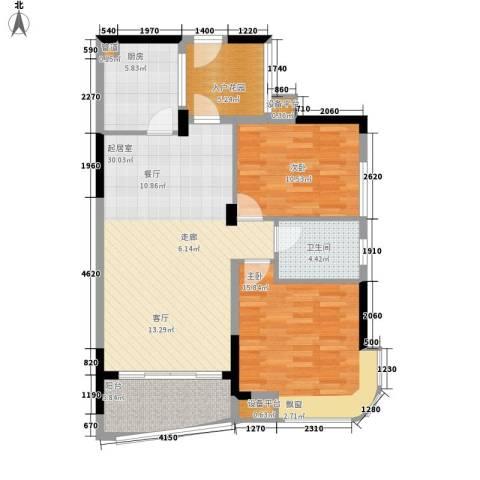 融圣国际2室0厅1卫1厨87.00㎡户型图