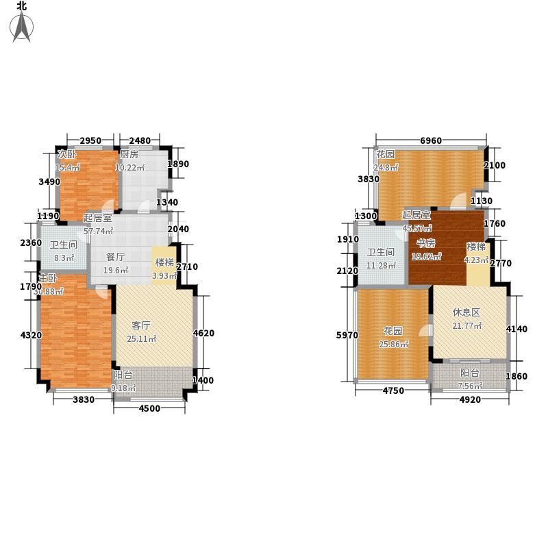 万海惜福时光135.00㎡多层B1-6户型2室2厅