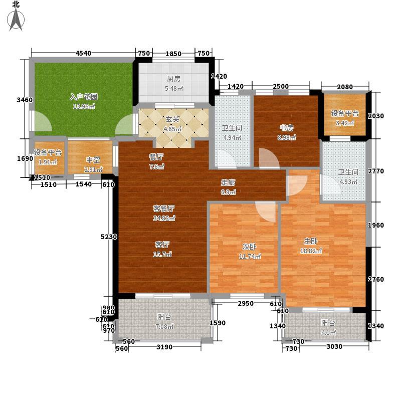 康城一品139.00㎡4、10#楼A3户型3室2厅