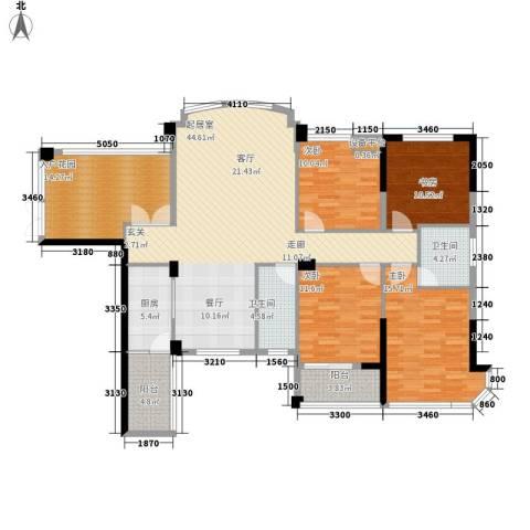 融圣国际4室0厅2卫1厨146.00㎡户型图