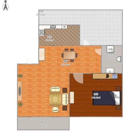 谷和温馨苑1室1厅1卫1厨872.00㎡户型图