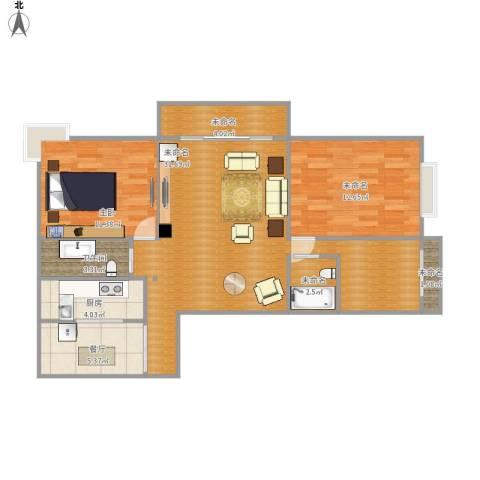 上河城1室1厅1卫1厨104.00㎡户型图