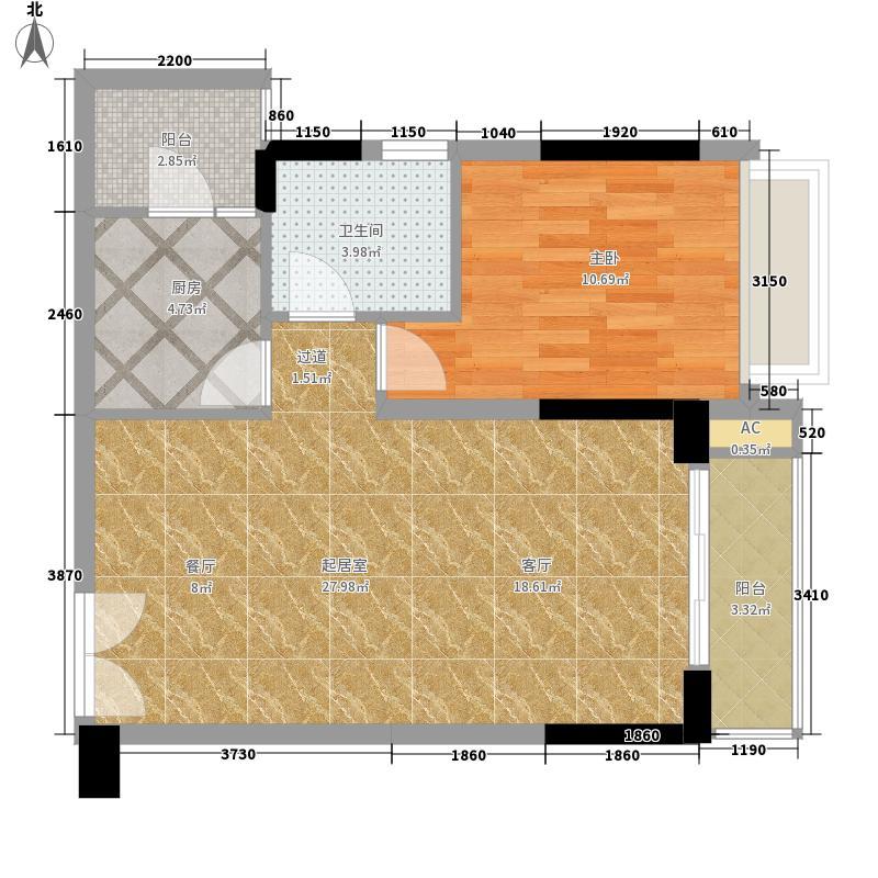 天玺1号65.00㎡03、05户型1室2厅