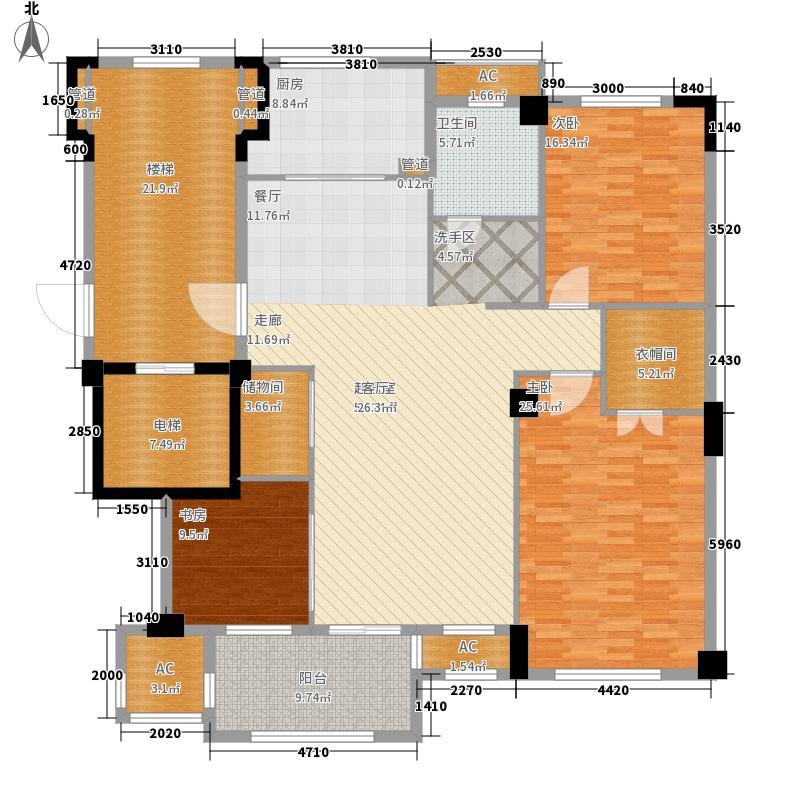 国骅文澜水岸194.00㎡G1平层户型5室2厅
