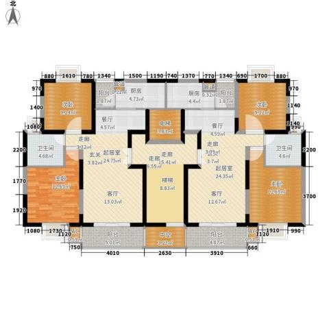 华光紫荆苑4室0厅2卫2厨148.87㎡户型图