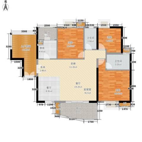 宏诚海岸3室0厅2卫1厨142.00㎡户型图