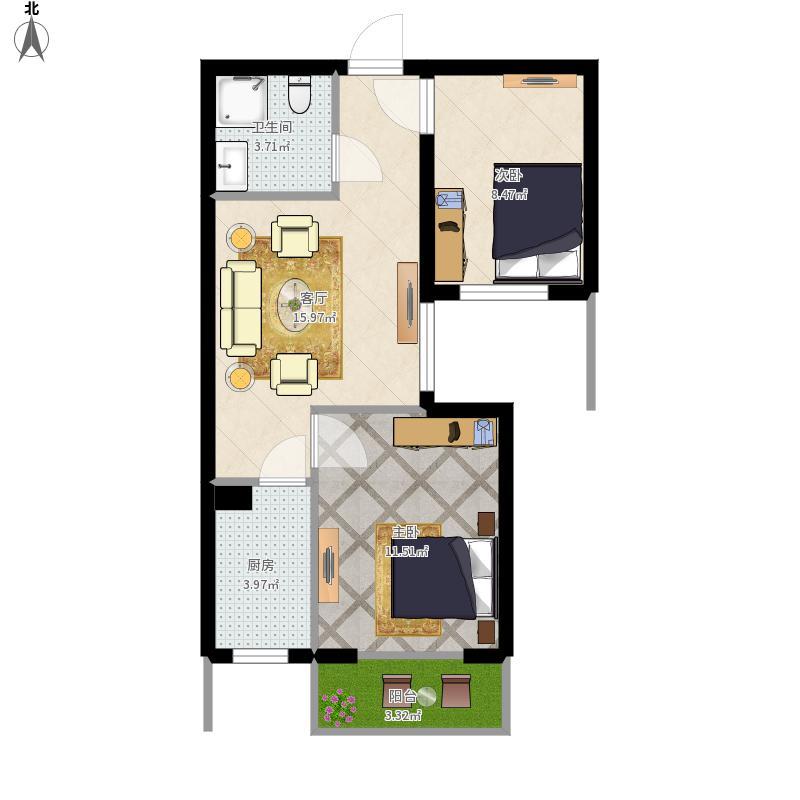 华城公寓07户型