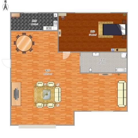 鼎新鼎云都1室1厅1卫1厨336.00㎡户型图