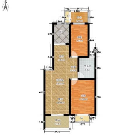 江湾华庭2室0厅1卫1厨89.00㎡户型图