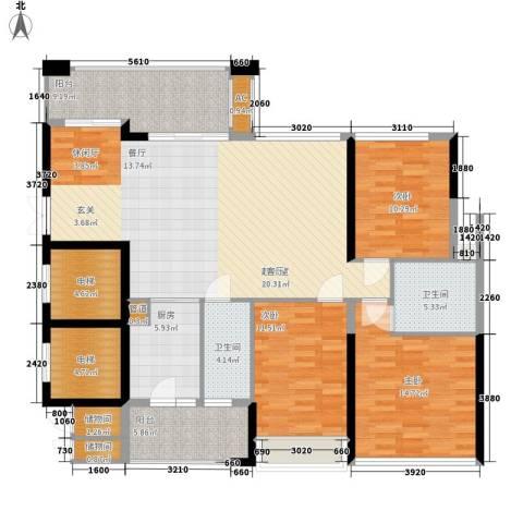 芳邻雅居3室0厅2卫1厨172.00㎡户型图
