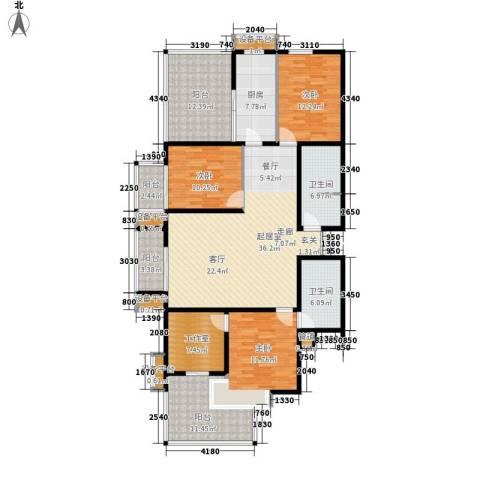 上洋国际3室0厅2卫1厨146.00㎡户型图