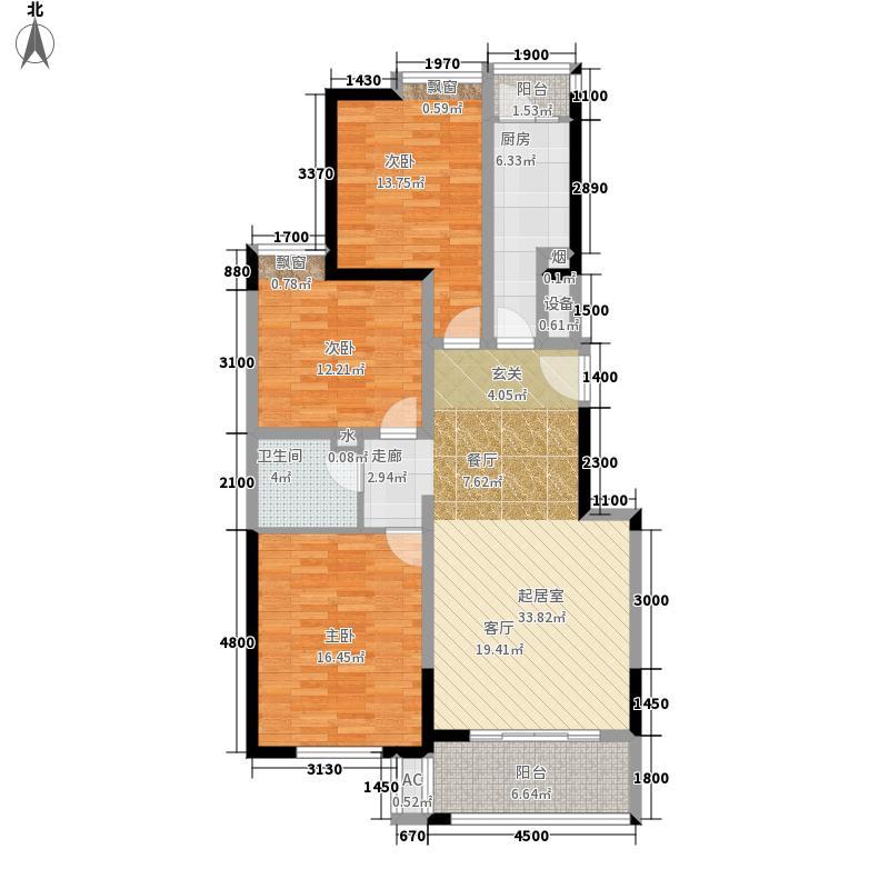 鼎正中央领郡123.30㎡X5、X7中单元西3室户型