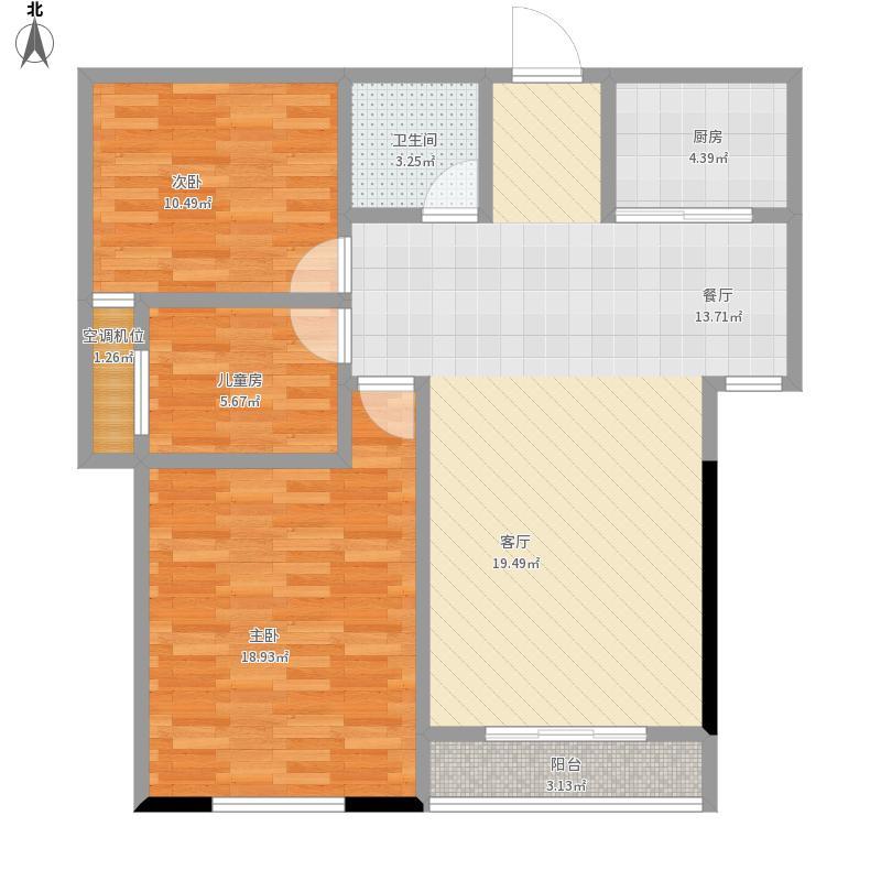 91.66两室两厅一卫