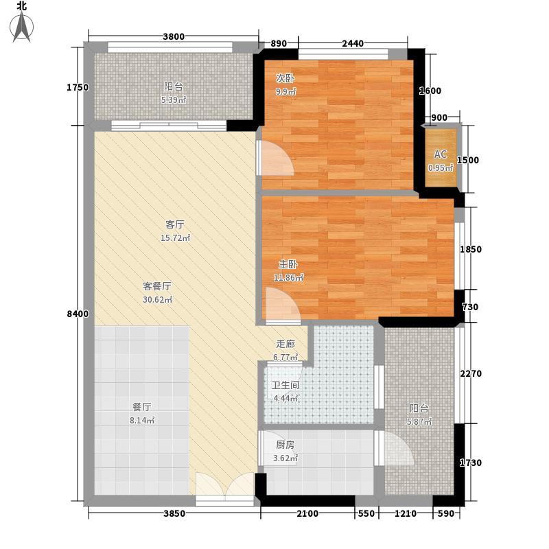 利海托斯卡纳88.00㎡19#L2面积8800m户型