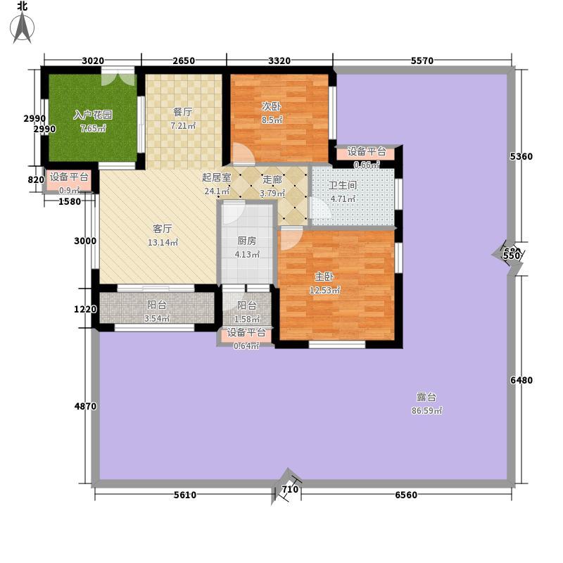 龙光阳光海岸80.00㎡DD-2b 户型2室2厅