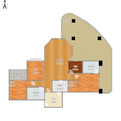 世纪城天鹅湖4室1厅2卫1厨258.00㎡户型图