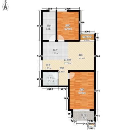 上洋国际2室0厅1卫1厨93.00㎡户型图