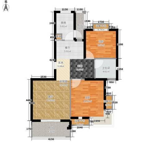 保利金爵公寓2室0厅1卫1厨88.00㎡户型图