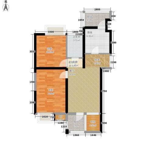 弘泽印象2室0厅1卫1厨93.00㎡户型图