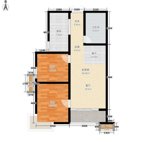 上洋国际2室0厅1卫1厨89.00㎡户型图
