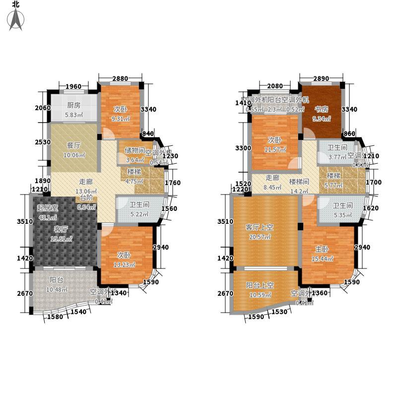 永隆城市广场203.00㎡一期瑞景苑叠加1F+2FA12户型