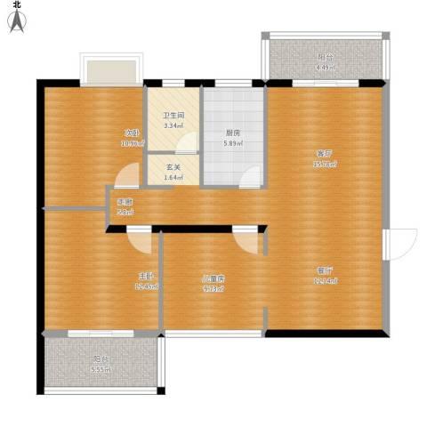 新凯御景湾2室1厅1卫1厨123.00㎡户型图