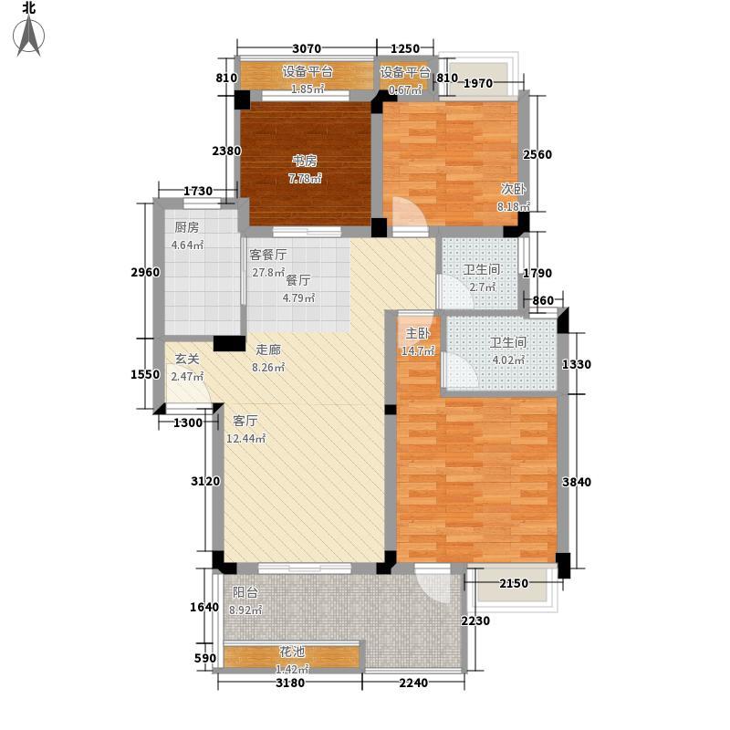 航天彩虹镇DD-2a户型3室2厅