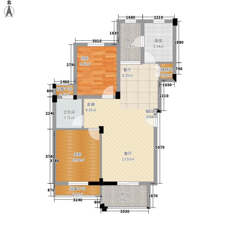 航天彩虹镇D-4户型2室2厅