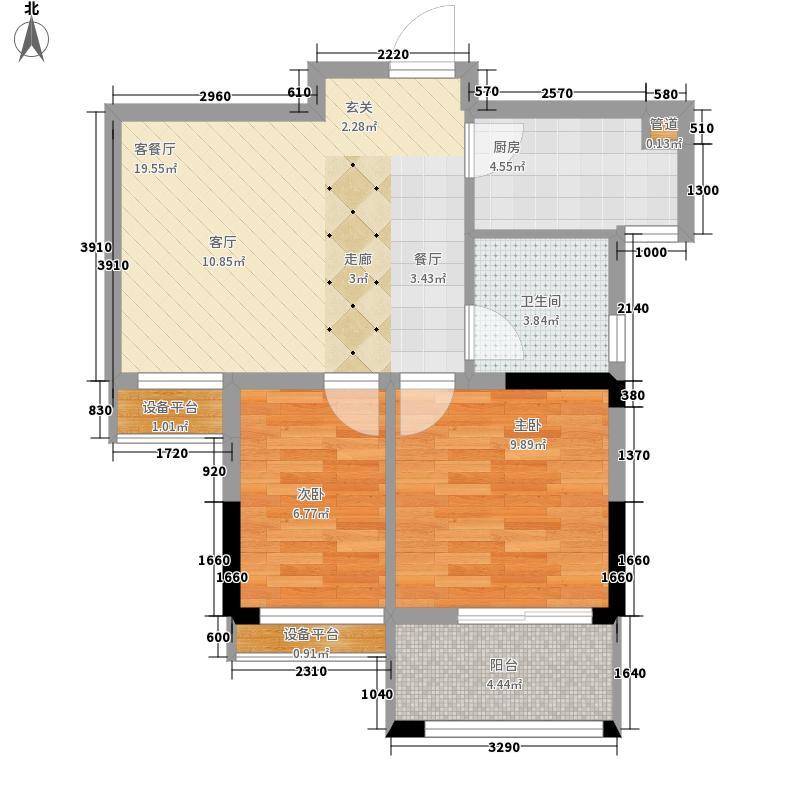航天彩虹镇D-2户型3室2厅