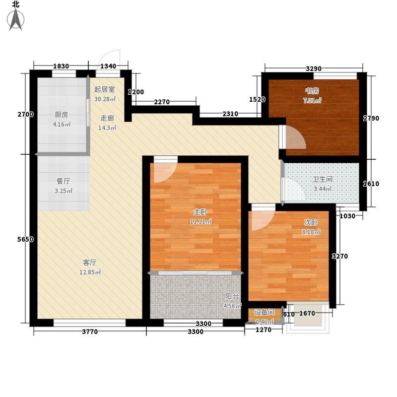 景和山庄100.90㎡18-20#楼G2户型2室2厅