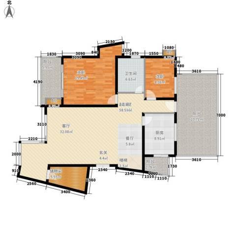 中天阳光美地2室0厅1卫1厨191.00㎡户型图