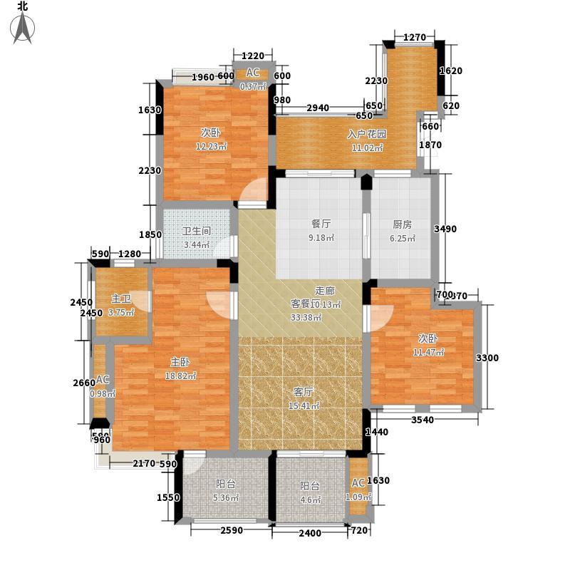 斌鑫中央国际公园123.03㎡B1五层端户/B2六层端户A5标准层户型