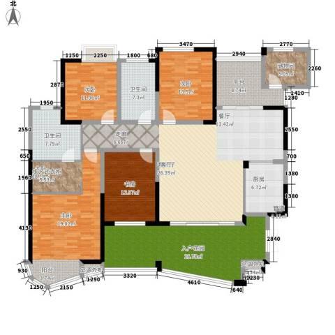 世纪城龙嘉苑4室1厅2卫1厨198.00㎡户型图