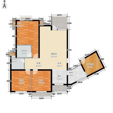 中天阳光美地3室0厅2卫1厨119.00㎡户型图