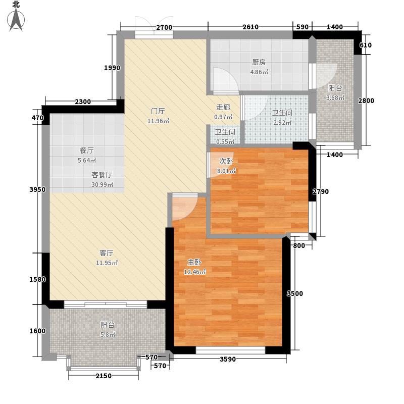 利海托斯卡纳88.00㎡10、12号楼面积8800m户型