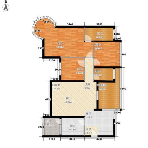 碧海红湖3室0厅0卫1厨150.00㎡户型图