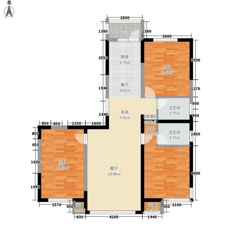 金瑞林城户型3室1厅