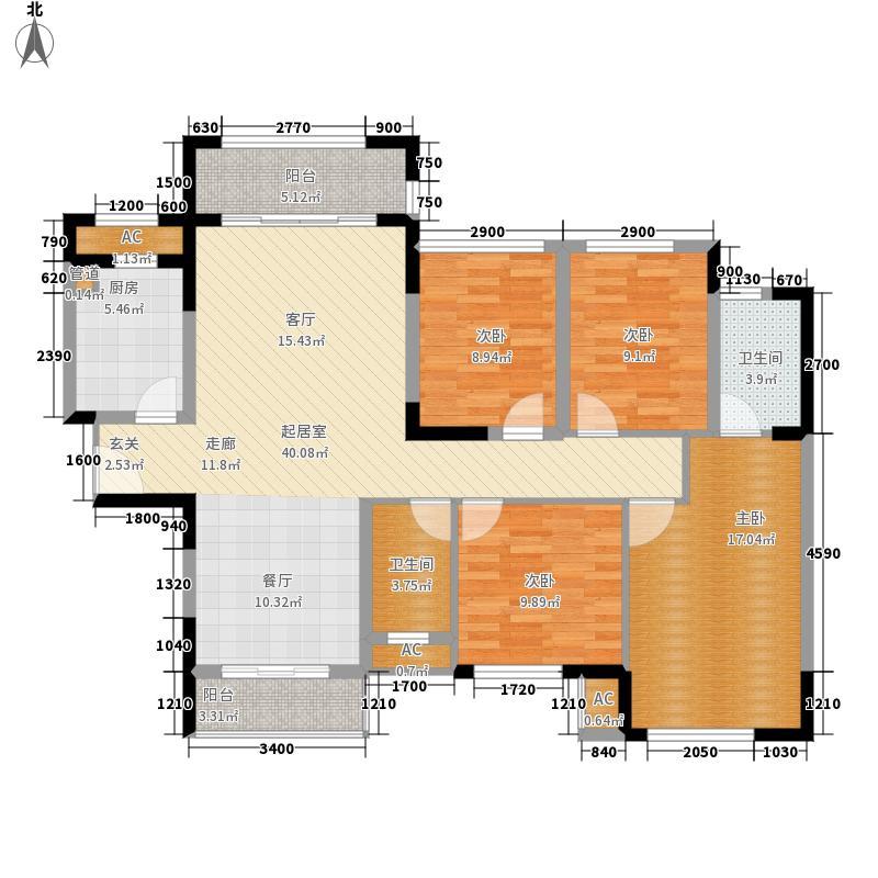 绿茵温莎堡香堤137.00㎡109/111-113幢04户型4室2厅
