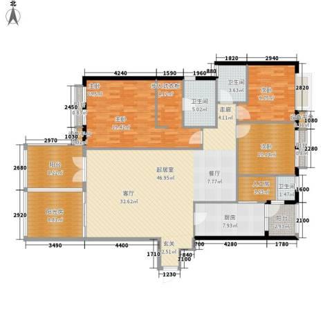 高山流水3室0厅3卫1厨149.00㎡户型图