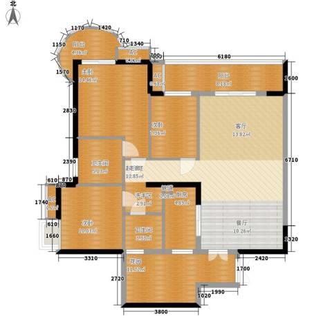 红塔汇翠山庄3室0厅2卫1厨136.00㎡户型图