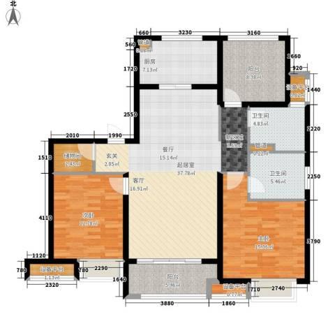 万科金域平江2室0厅2卫1厨118.00㎡户型图