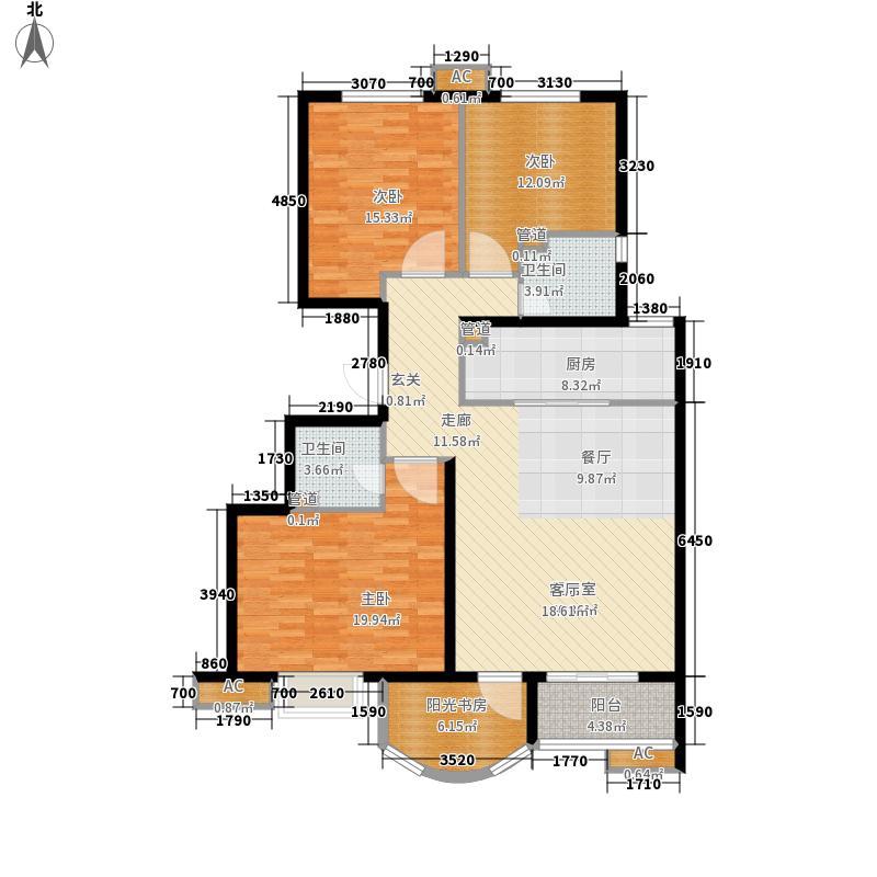新天地美域132.00㎡A-1 3室2厅1厨1卫 132㎡户型3室2厅1卫